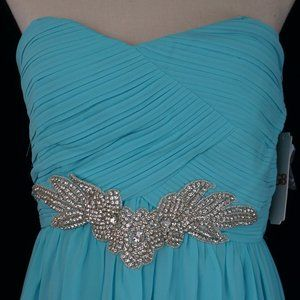 Turquoise Short Prom / Cocktail Dress Size L